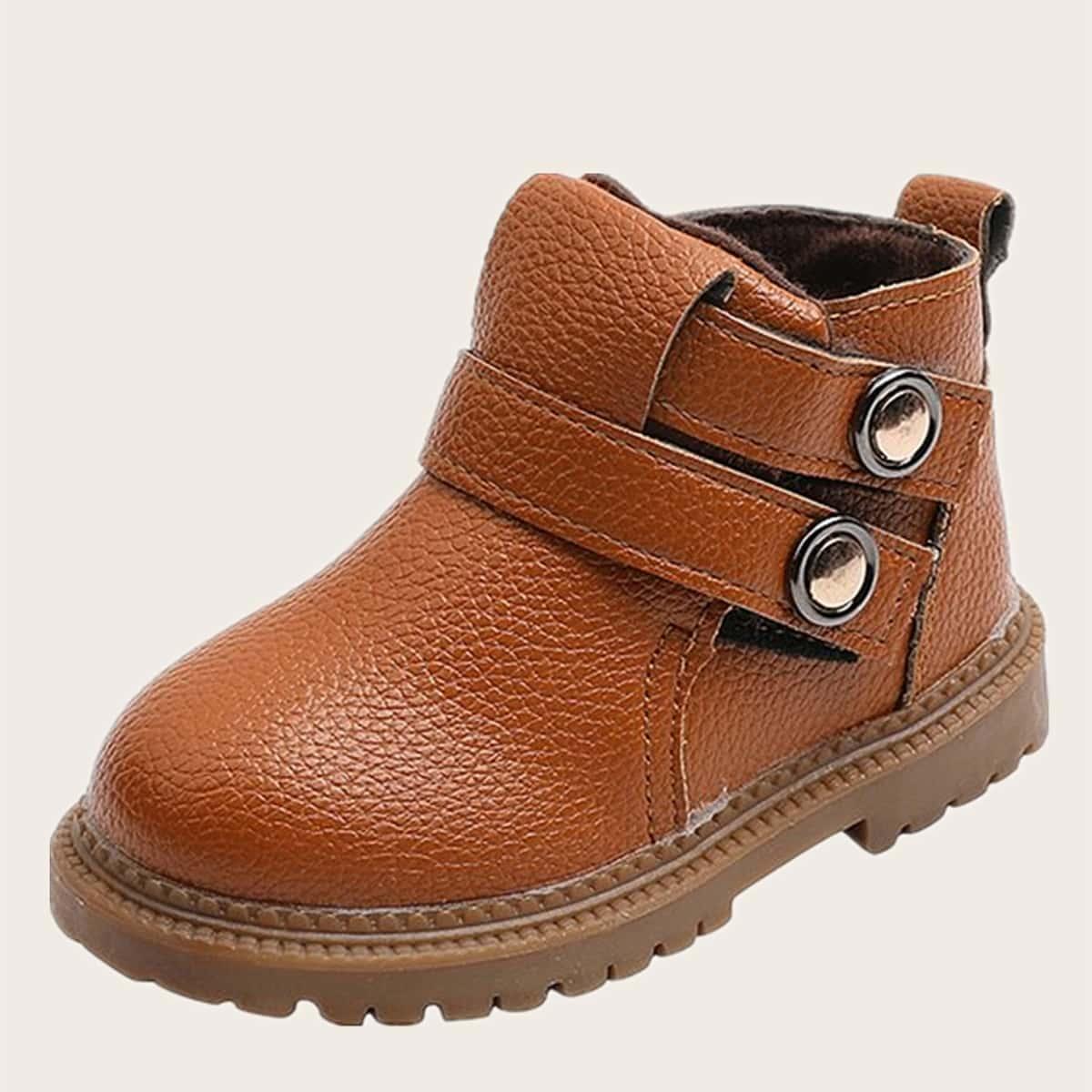 Ботинки с пуговицами для девочек SheIn sk2107272841833035