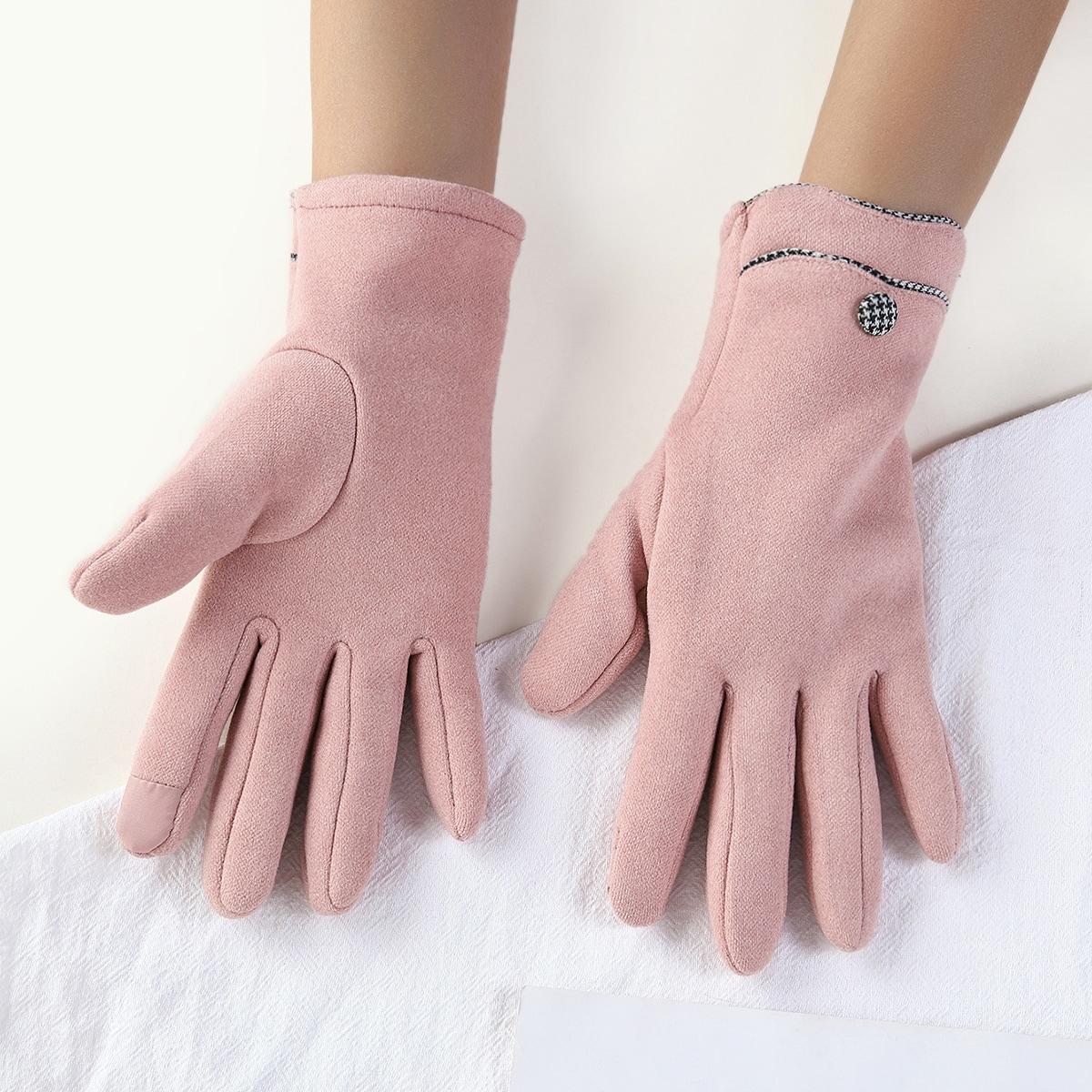 1 пара Перчатки минималистичный