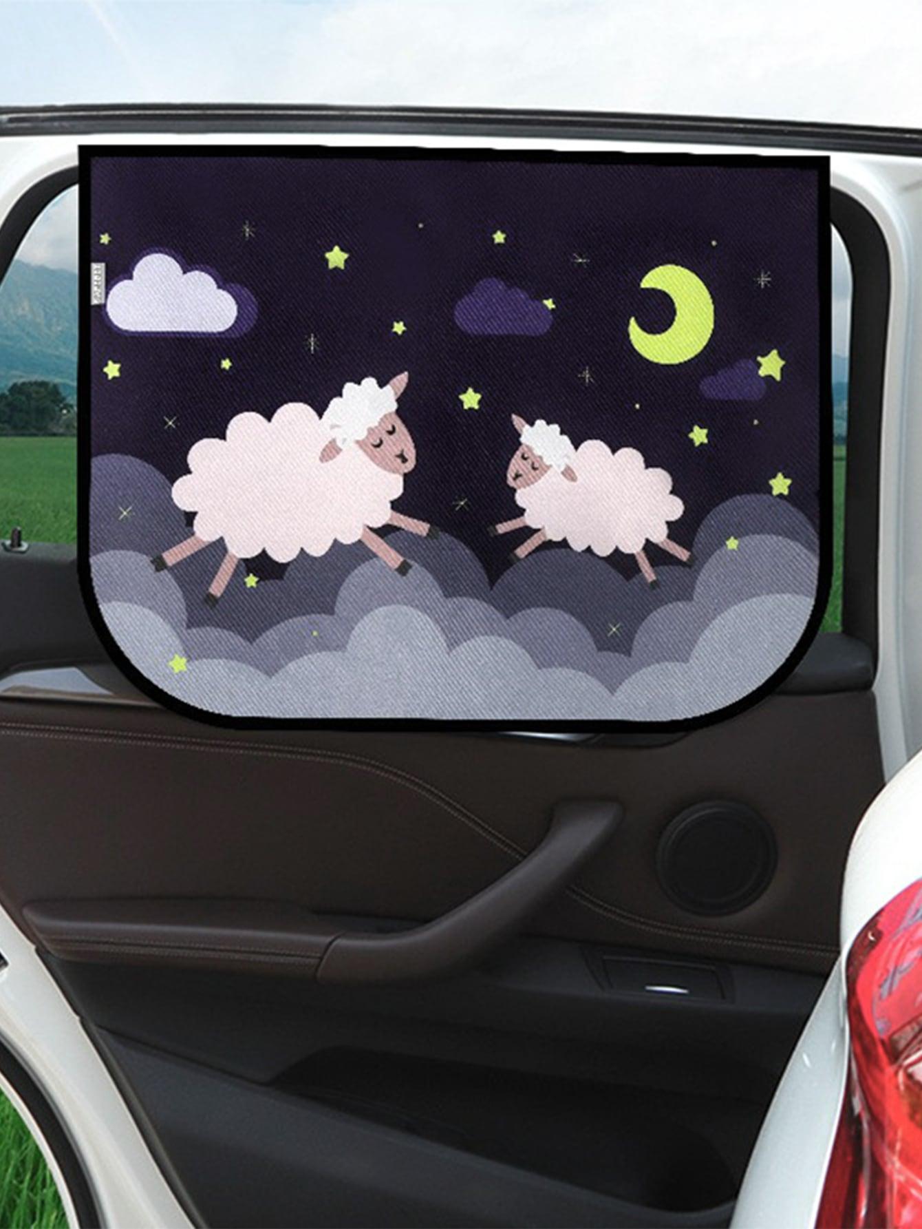 Cartoon Sheep Magnetic Car Side Curtain