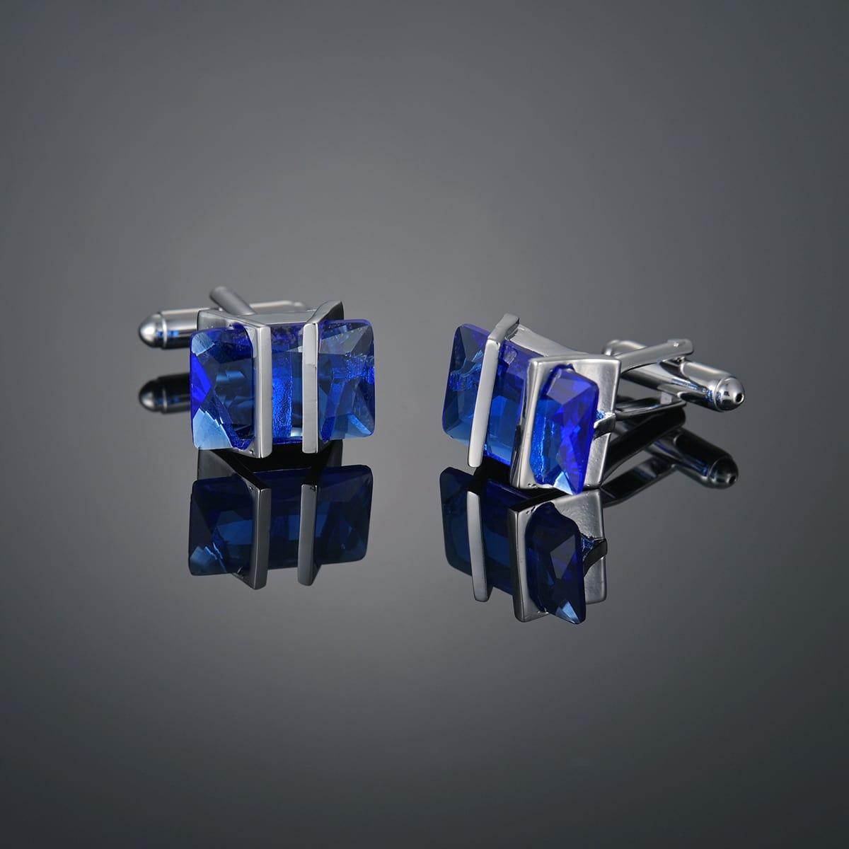 Men Gemstone Decor Cufflinks, SHEIN  - buy with discount