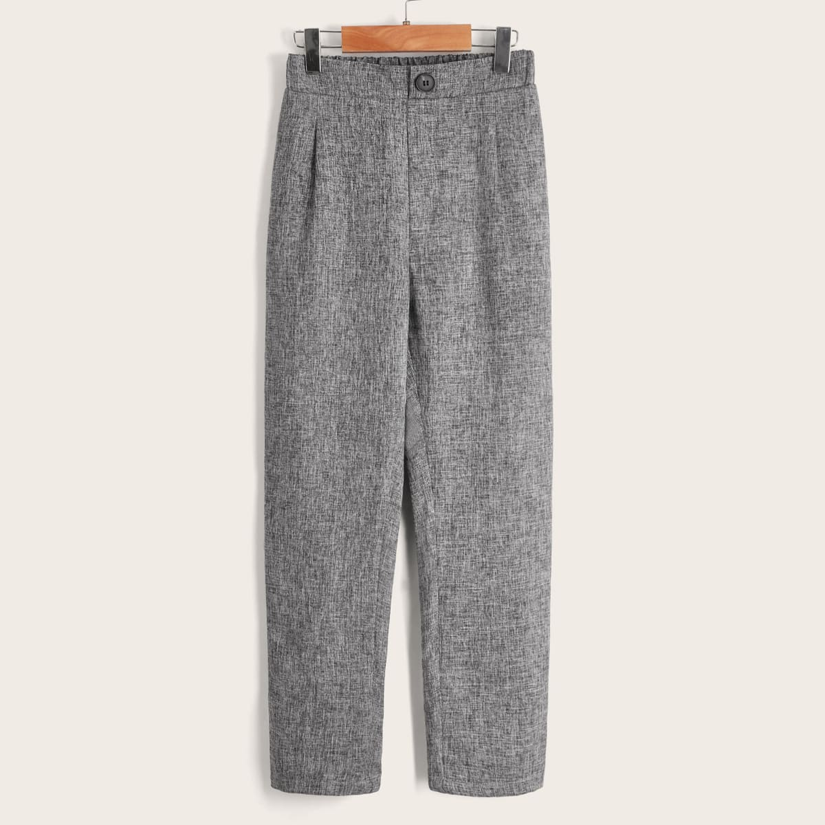 Boys Single Button Linen Look Pants, SHEIN  - buy with discount