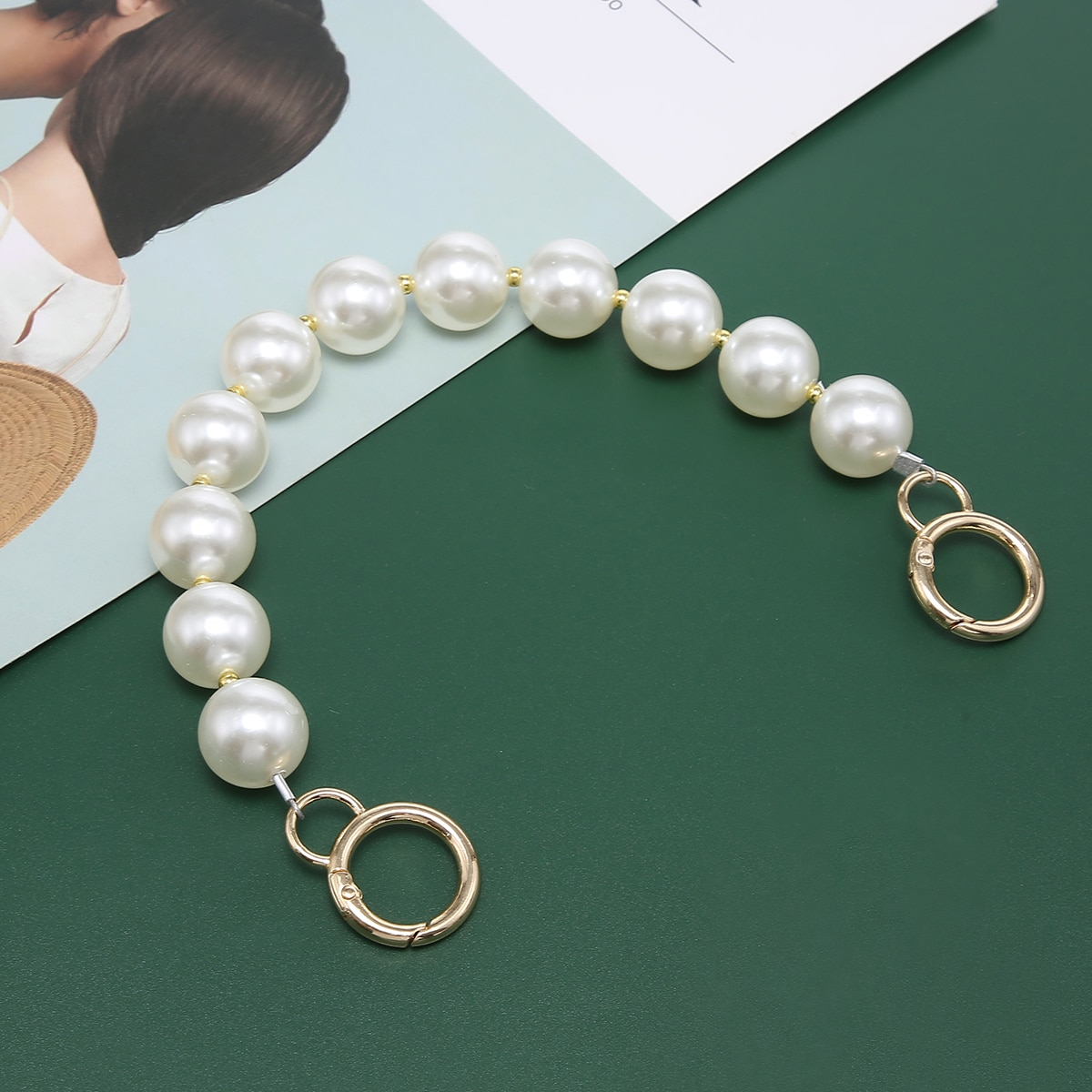 Faux Pearls Design Bag Strap, SHEIN  - buy with discount