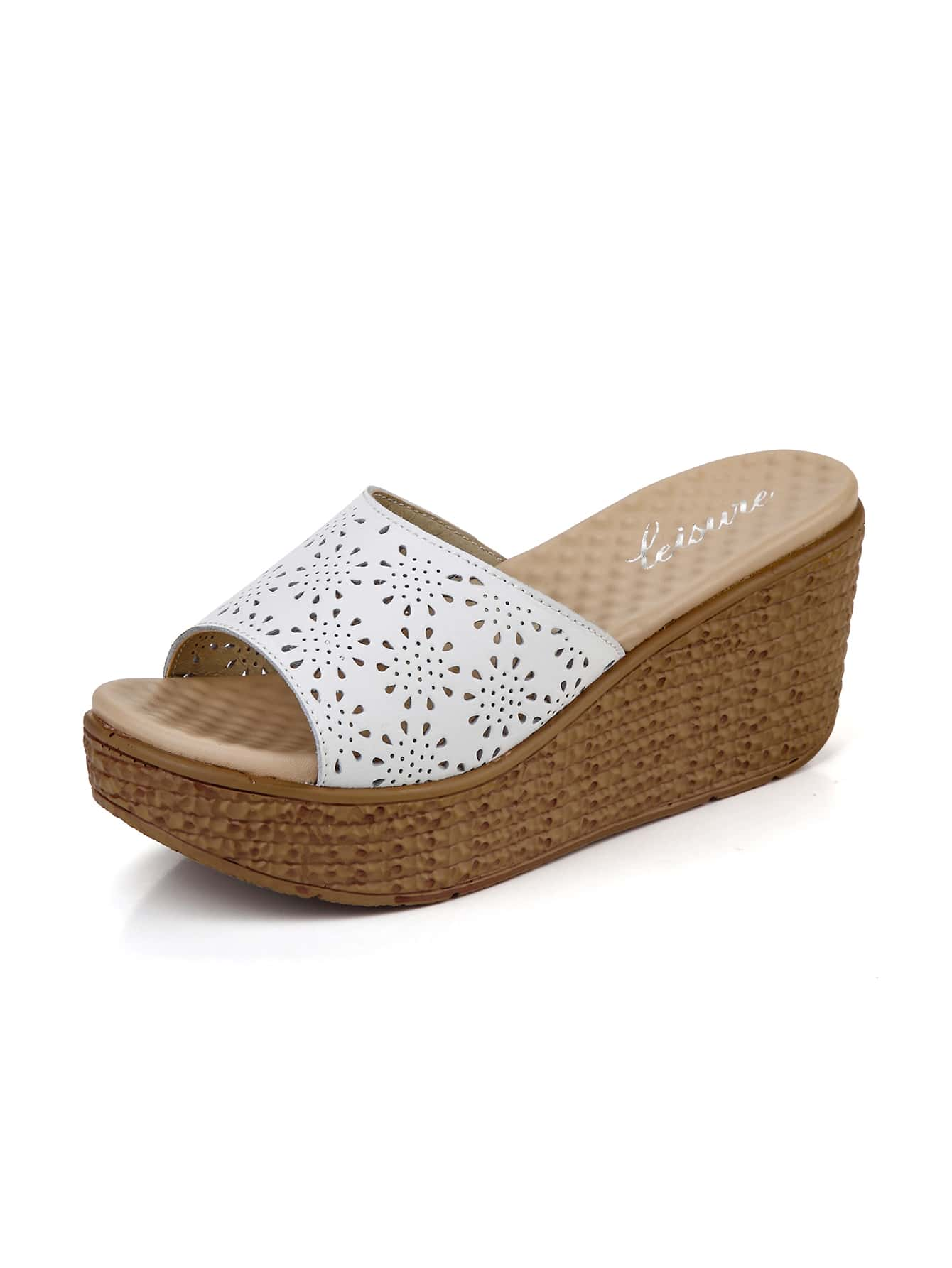Hollow Out Wedge Wedge Sandals