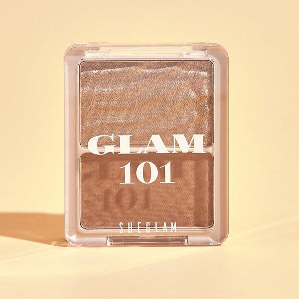 GLAM 101 Hybrid Highlighter & Blush Duo-VIENNA