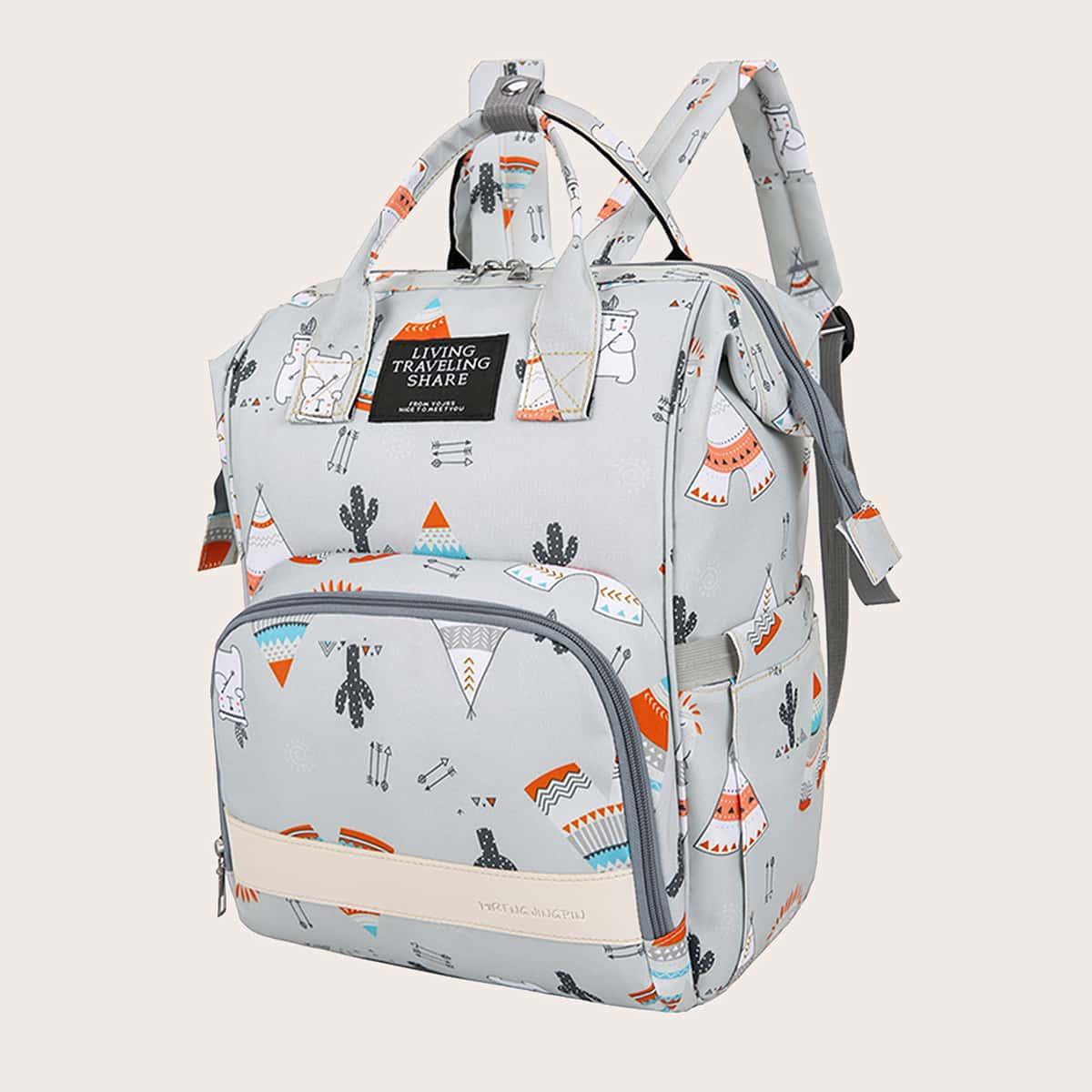 Рюкзак для подгузников с мультипликационным узором