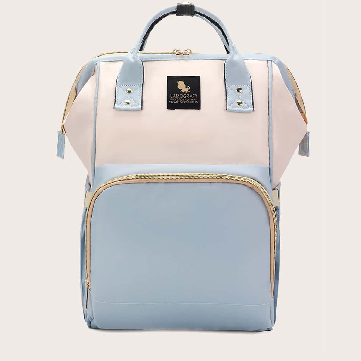 Функциональный рюкзак двухцветный большей емкости