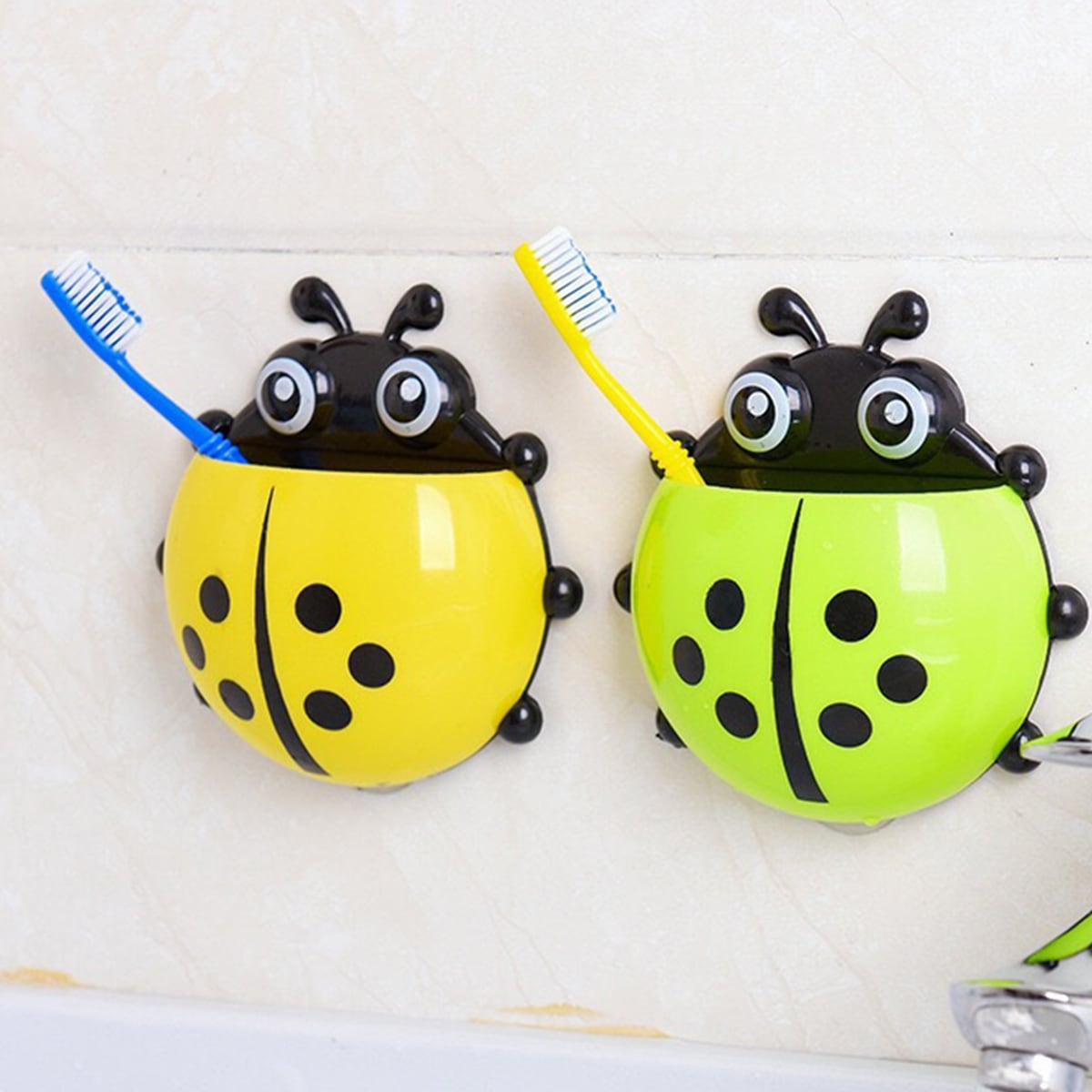 1pc Ladybug Shaped Random Color Toothbrush Holder, SHEIN  - buy with discount