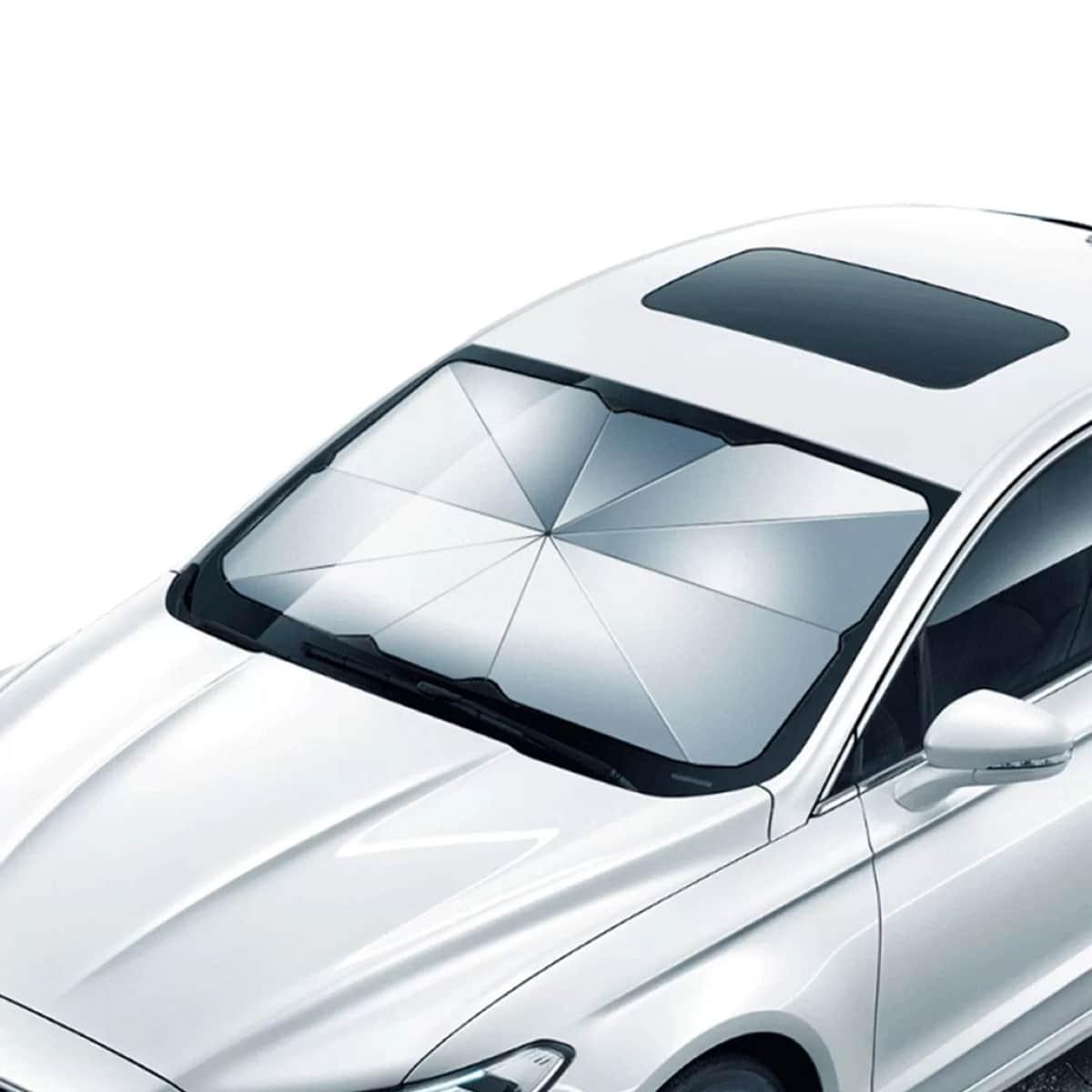 Зонт от солнца на лобовое стекло автомобиля