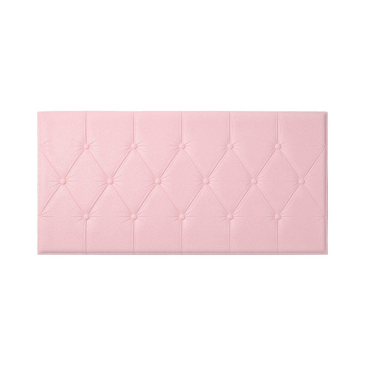 1шт 3D Мыло Наклейка на стену SHEIN. Цвет: розовые