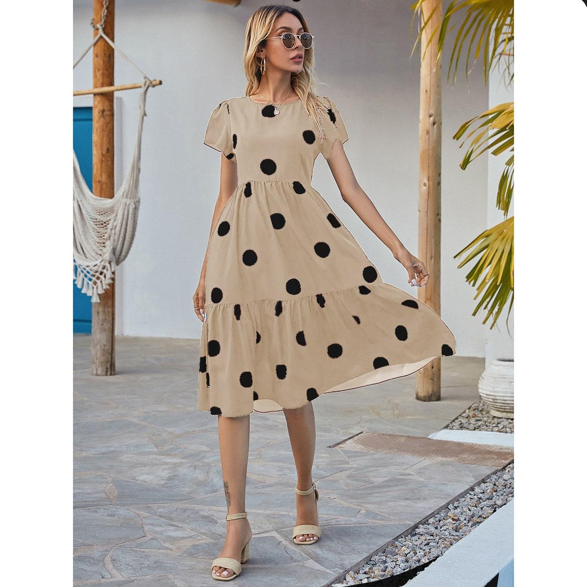 Платье в горошек SheIn sw2107077821839013