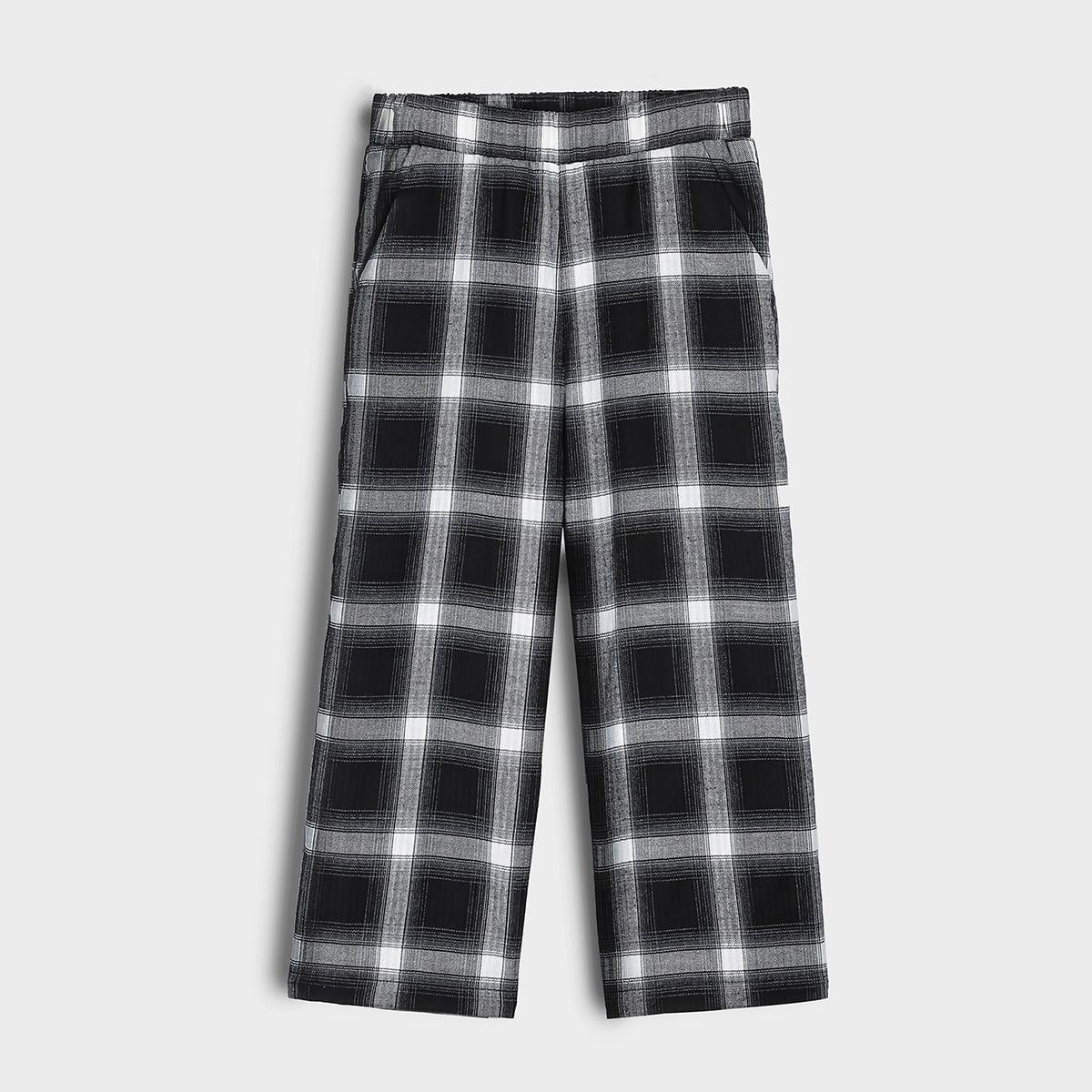 Fille Pantalon ample à carreaux