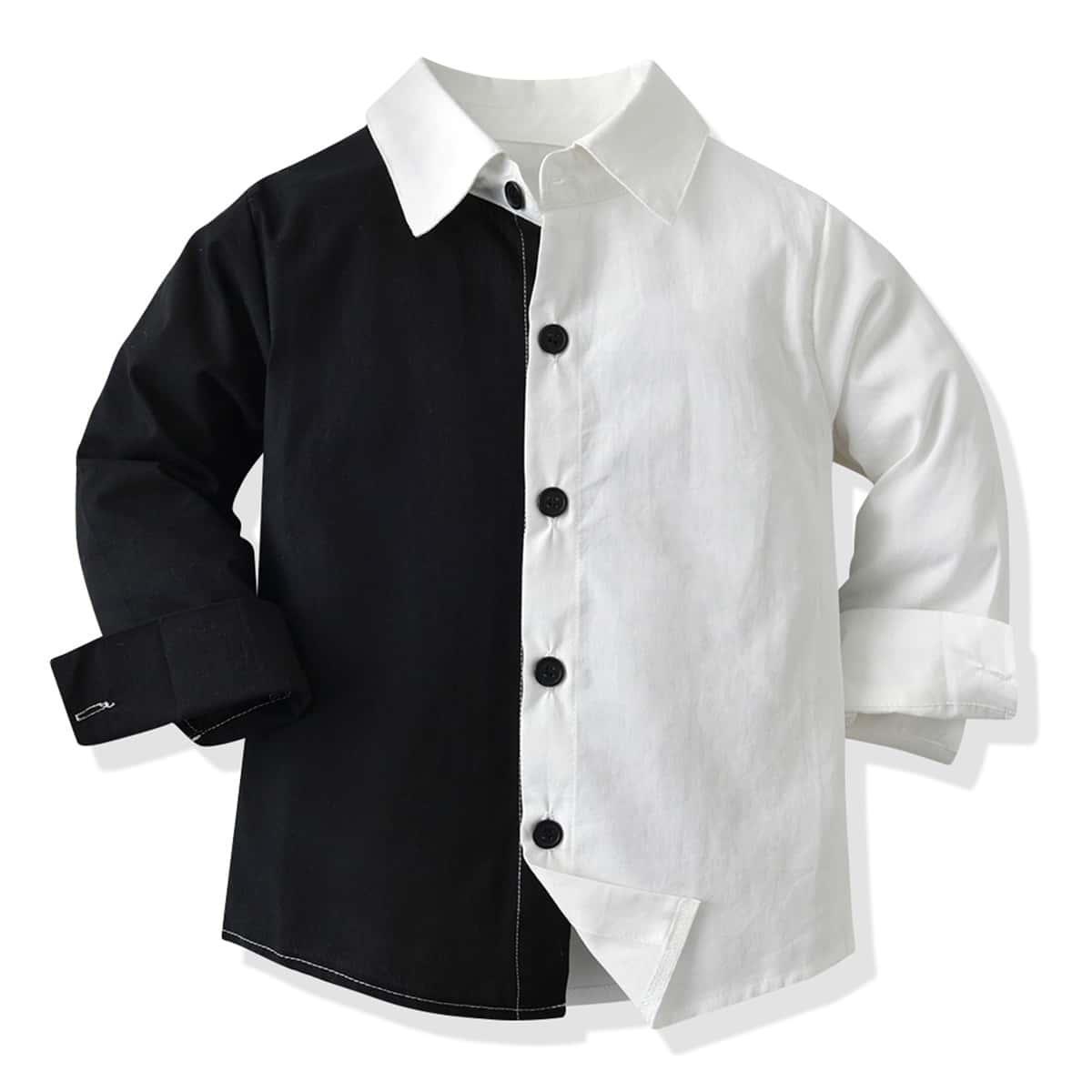 для мальчиков Рубашка двухцветный