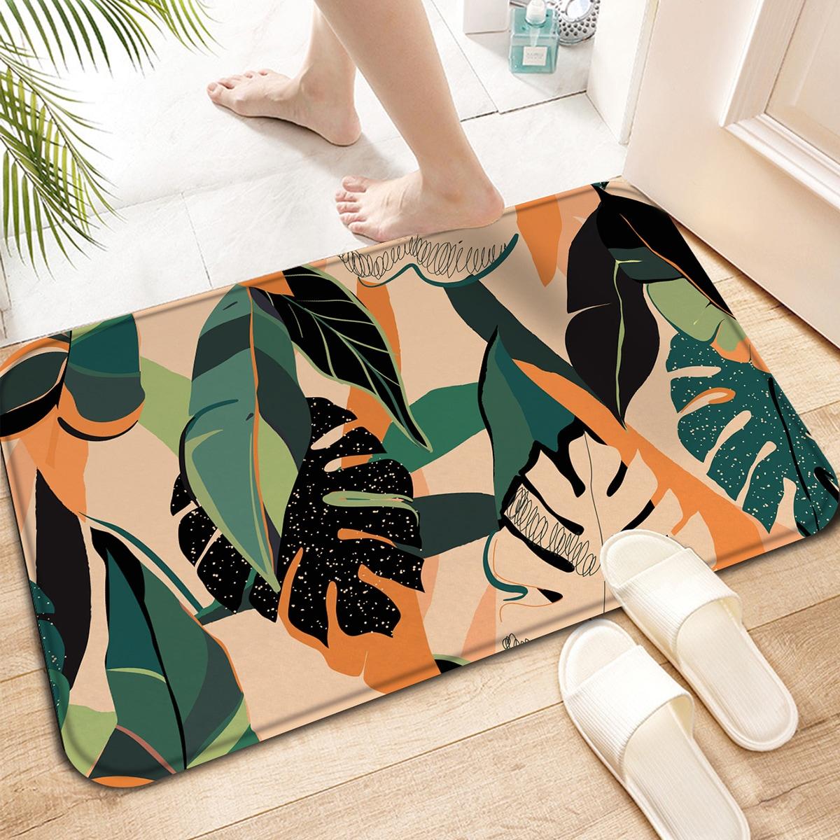 Напольный коврик с узором листьев