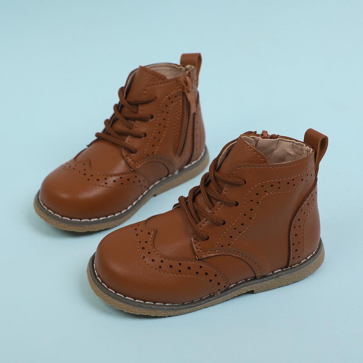 для мальчиков Ботинки на шнурках SheIn sk2108012715605188