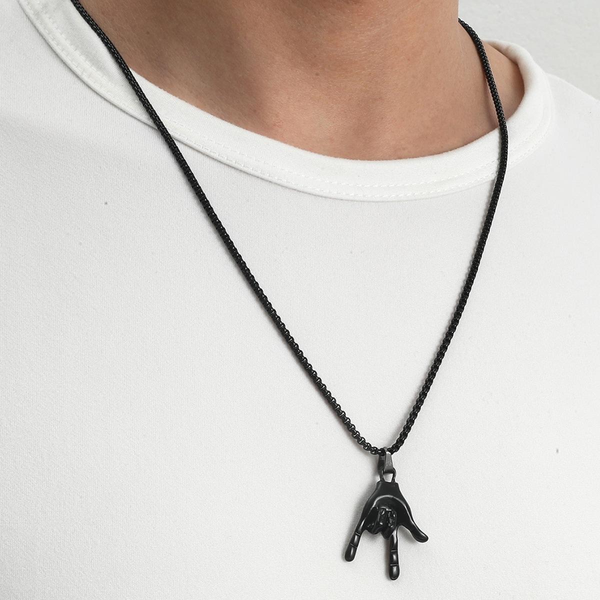 Ожерелье с подвеской для мужчин
