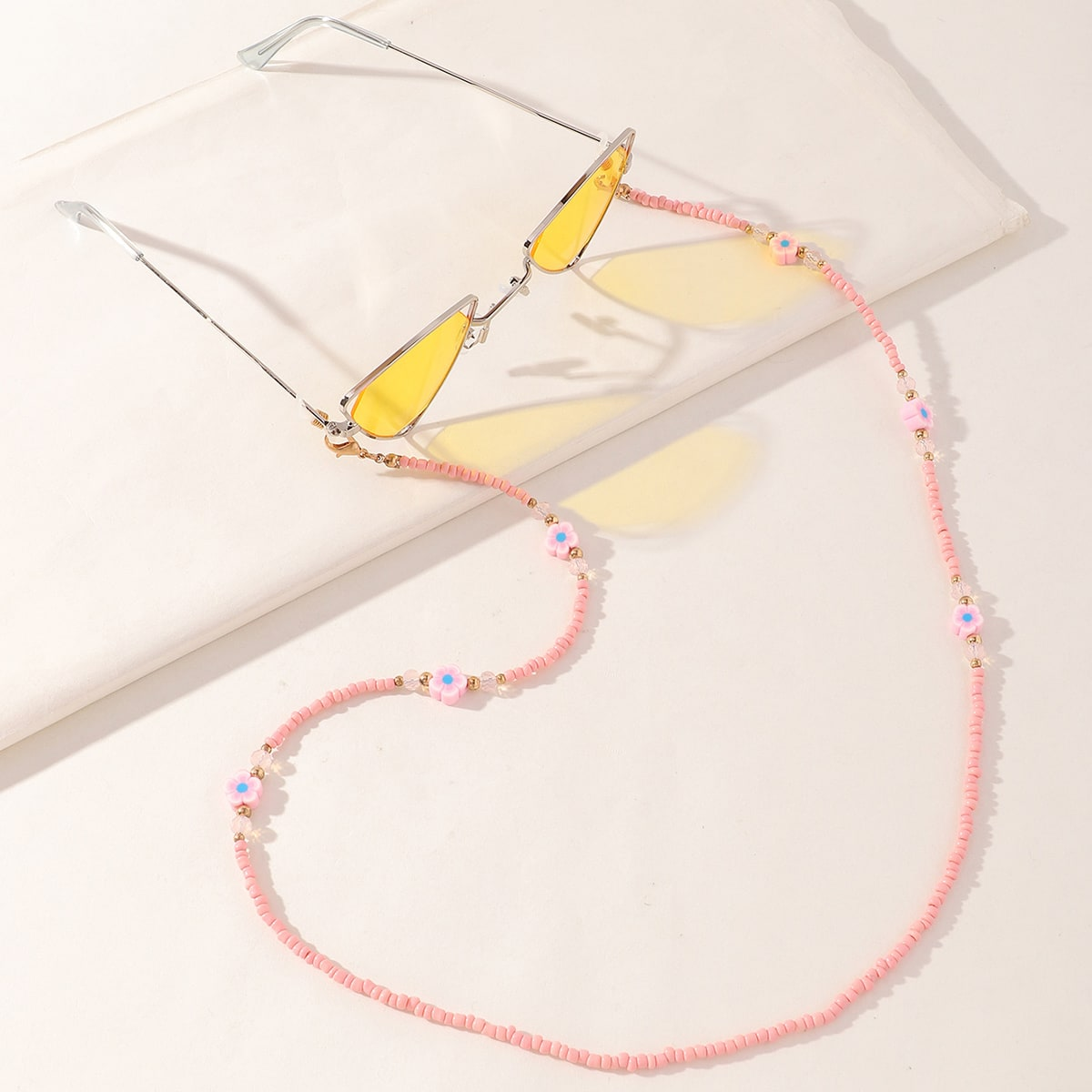 Girls Beaded Face Mask Chain, SHEIN  - buy with discount