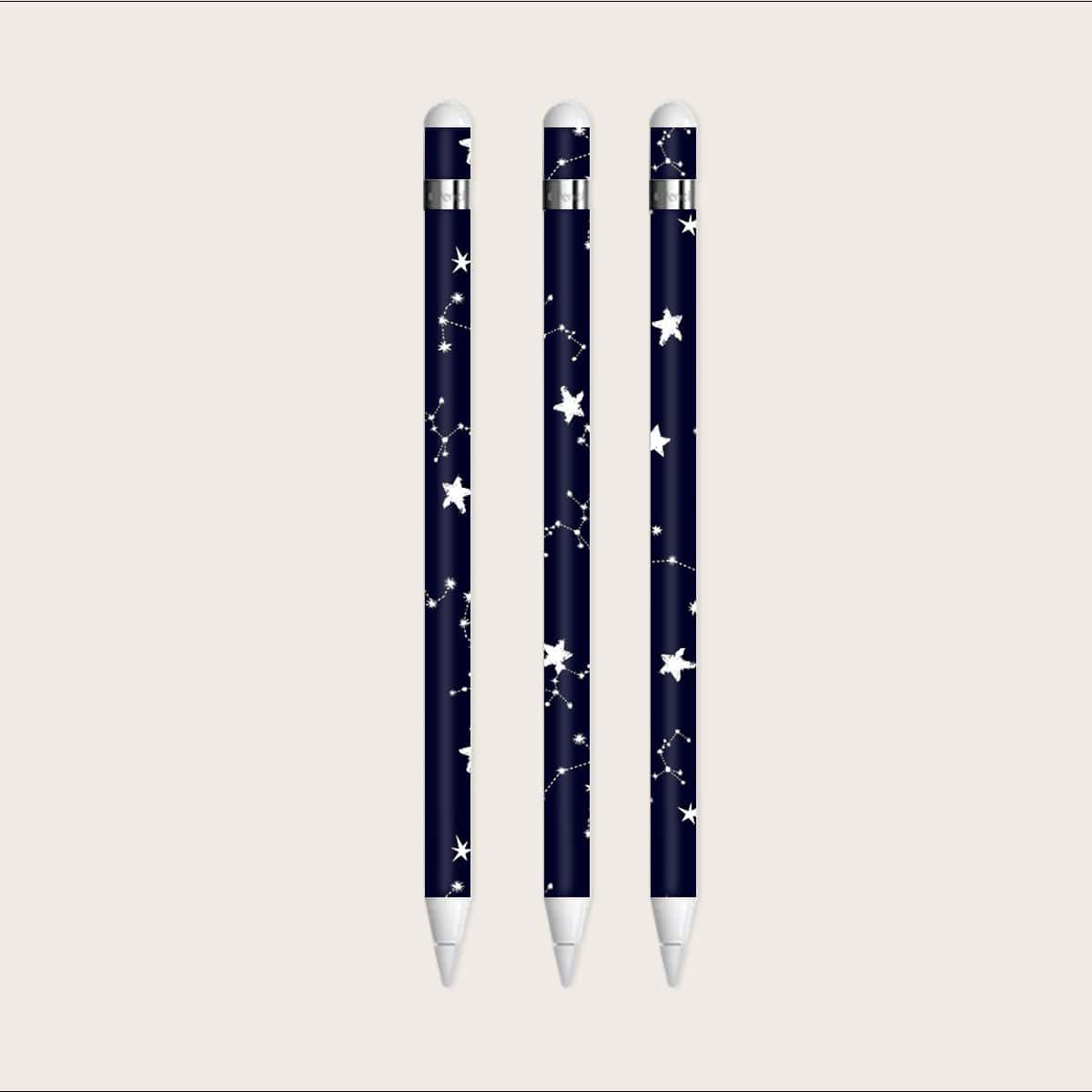 1 лист наклейка для Apple Pencil 1st  с узором звезды
