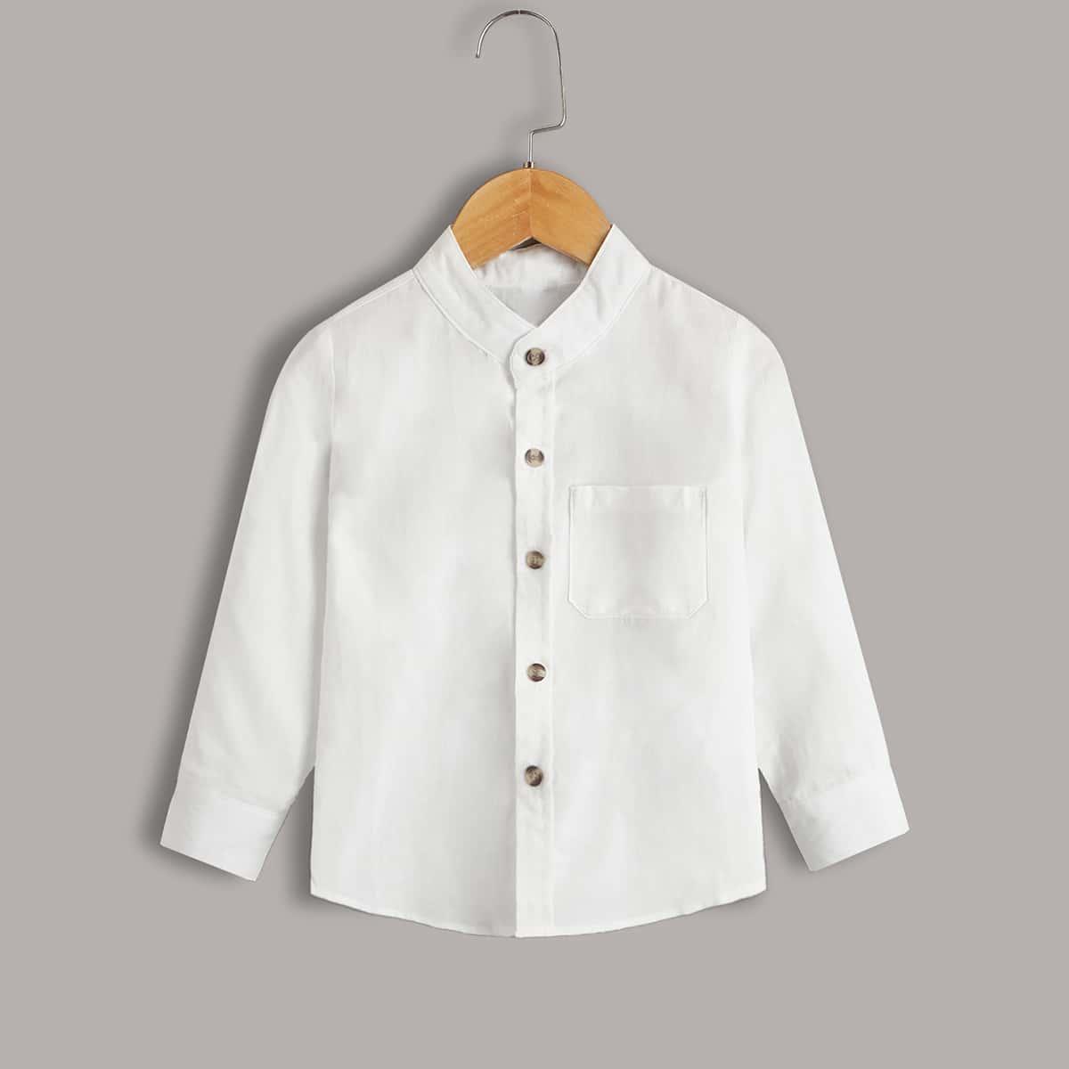 для мальчиков Рубашка с краманом