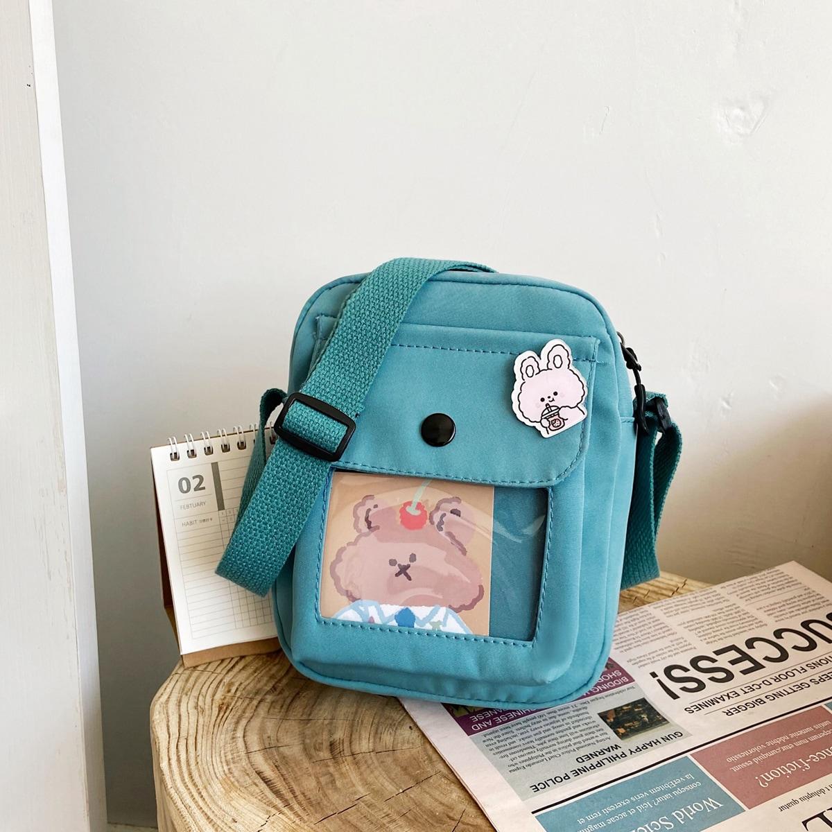 Детская сумка через плечо с мультипликационным узором SheIn sk2108015387534083