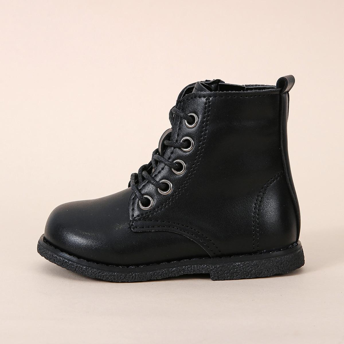 Минималистичные ботинки на шнурке для девочек SheIn sk2107295722474868