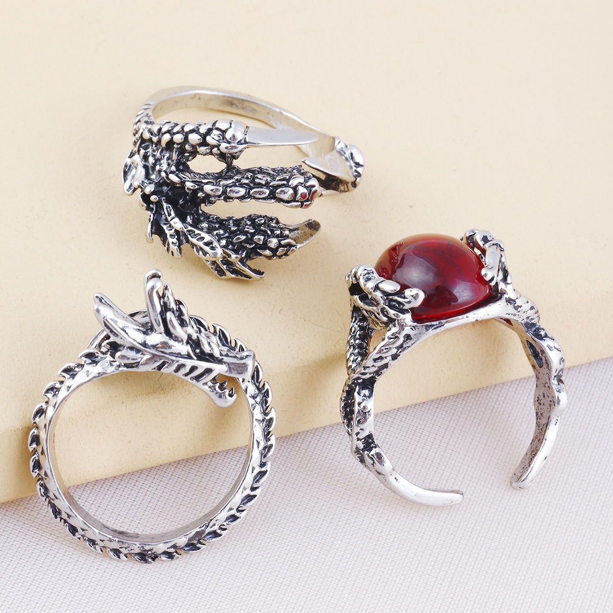 Men Claw Decor Ring, SHEIN  - buy with discount
