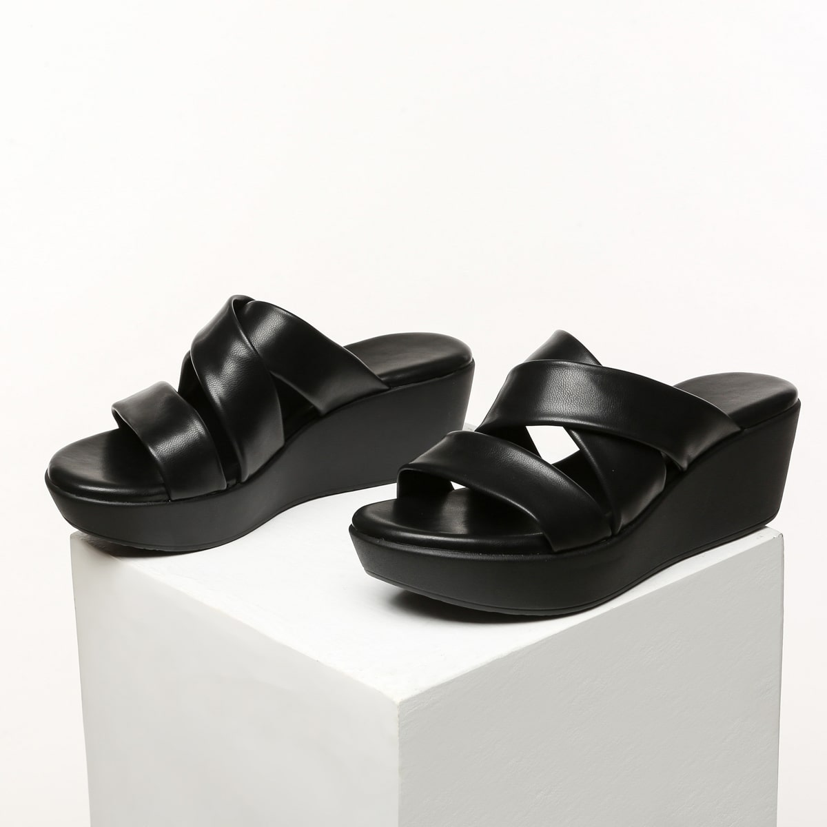 Criss Cross Wedge Sandals, SHEIN  - buy with discount