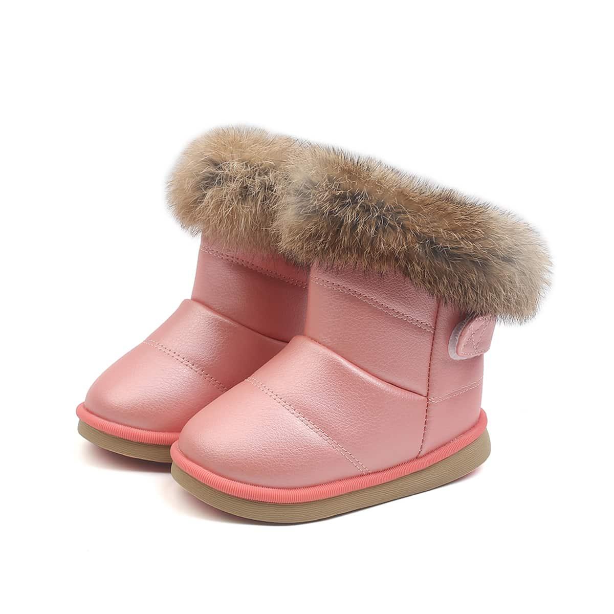 Плюшевые ботинки для девочек SheIn sk2108031290530610