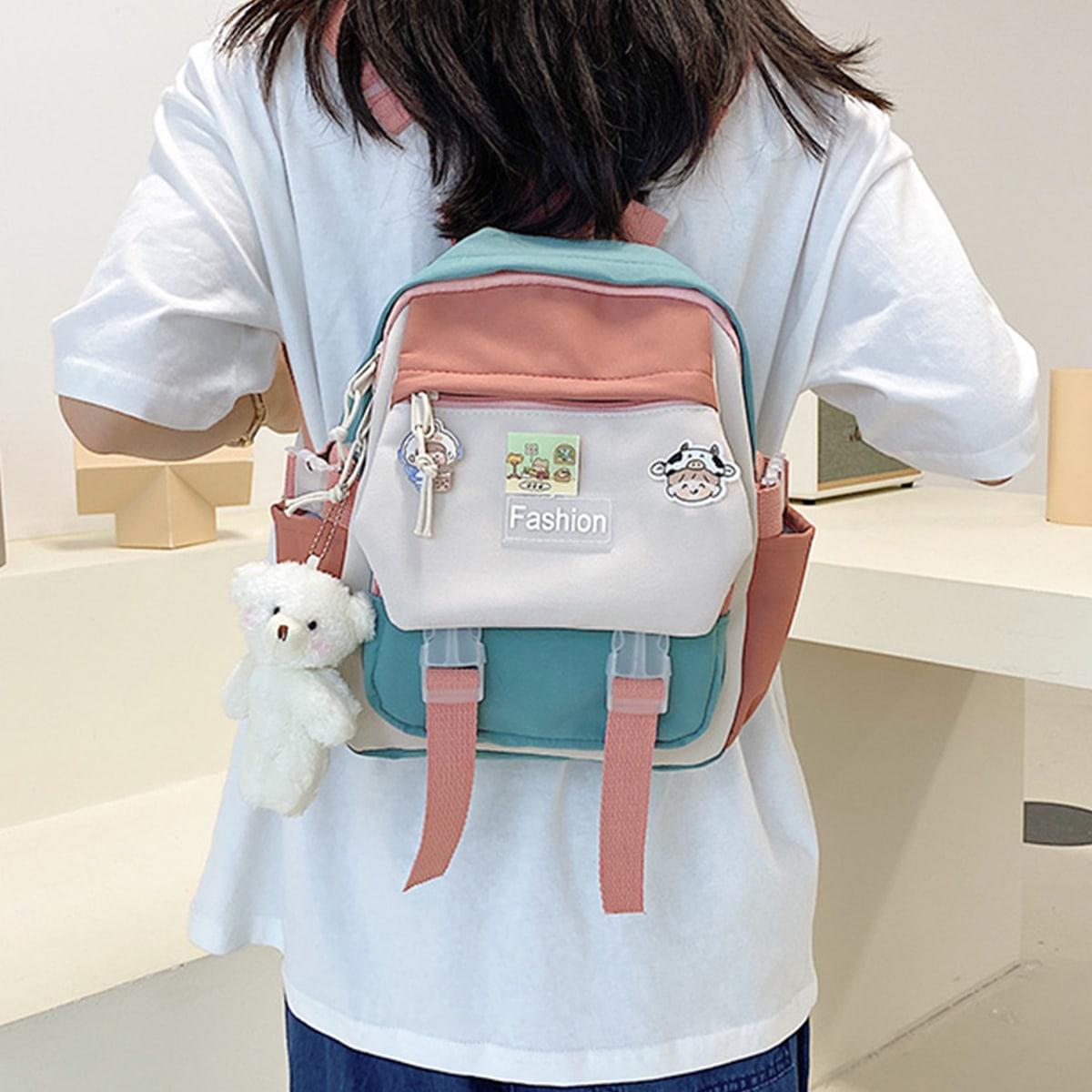 Colorblock School Bag