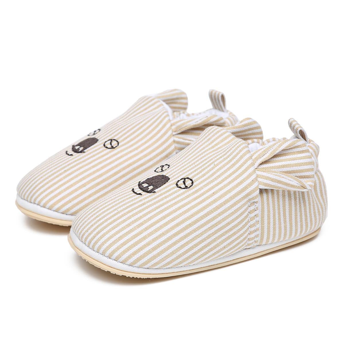 Минималистичные туфли на плоской подошве в полоску для мальчиков от SHEIN