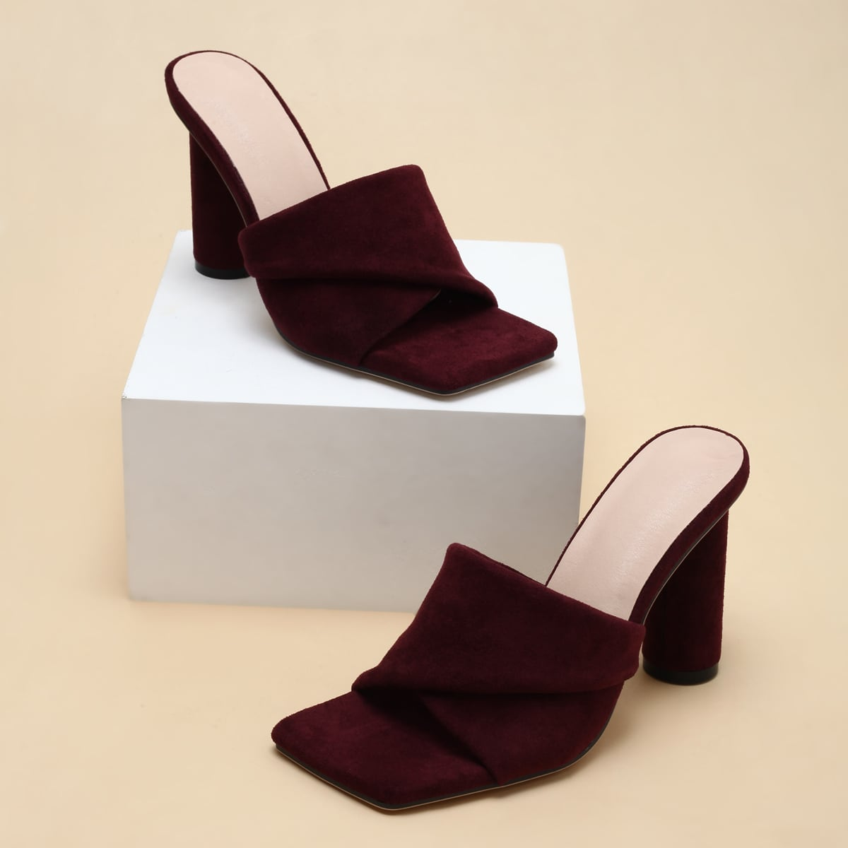 Suede Chunky Sandals