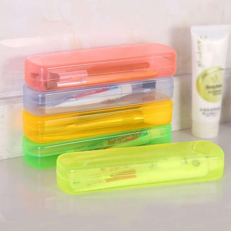 1pc Random Color Travel Toothbrush Box, Multicolor