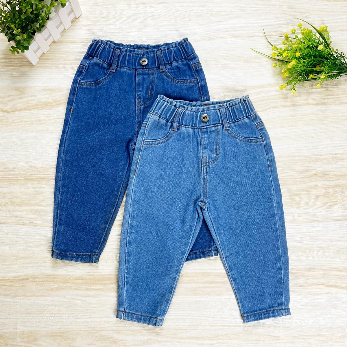 2шт Детские зауженные джинсы с эластичной талией от SHEIN