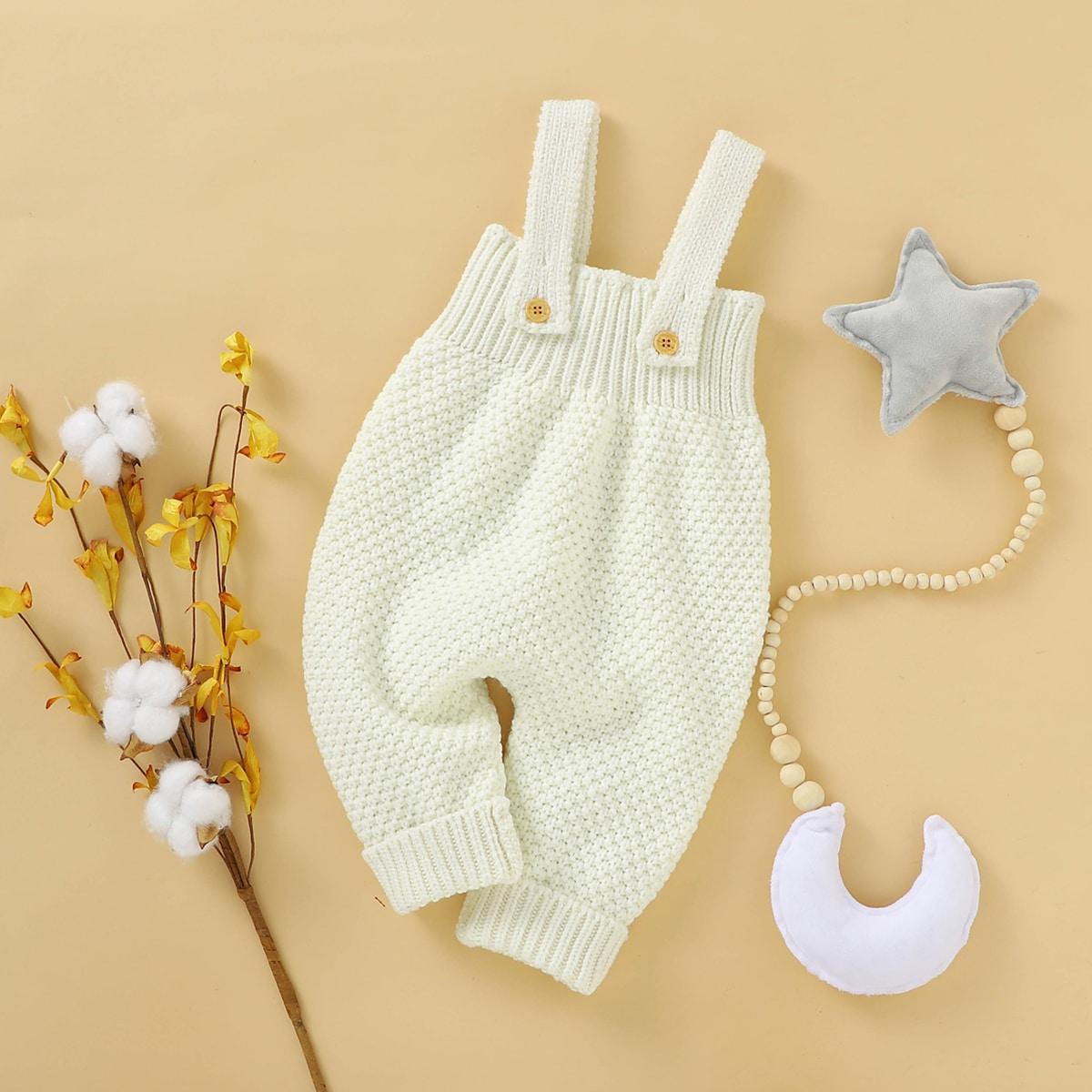 Bodies en maille bébé Boutons Casual Unicolore