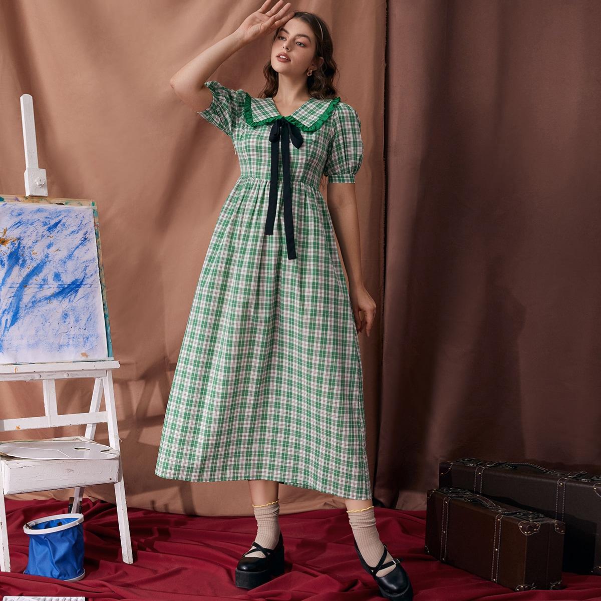 Платье в клетку SheIn swdress07210616906