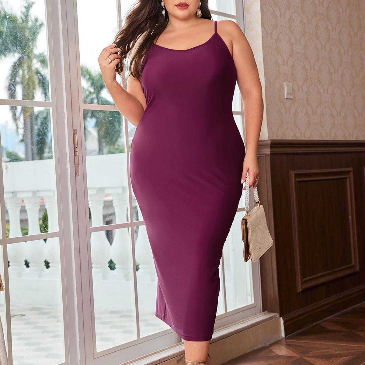 размера плюс Облегающее платье