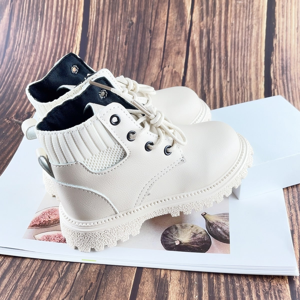 Вязаные ботинки на шнурках для мальчиков SheIn sk2108054198862661