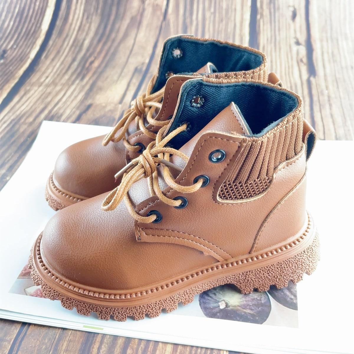 Вязаные ботинки на шнурках для мальчиков SheIn sk2108055704886168