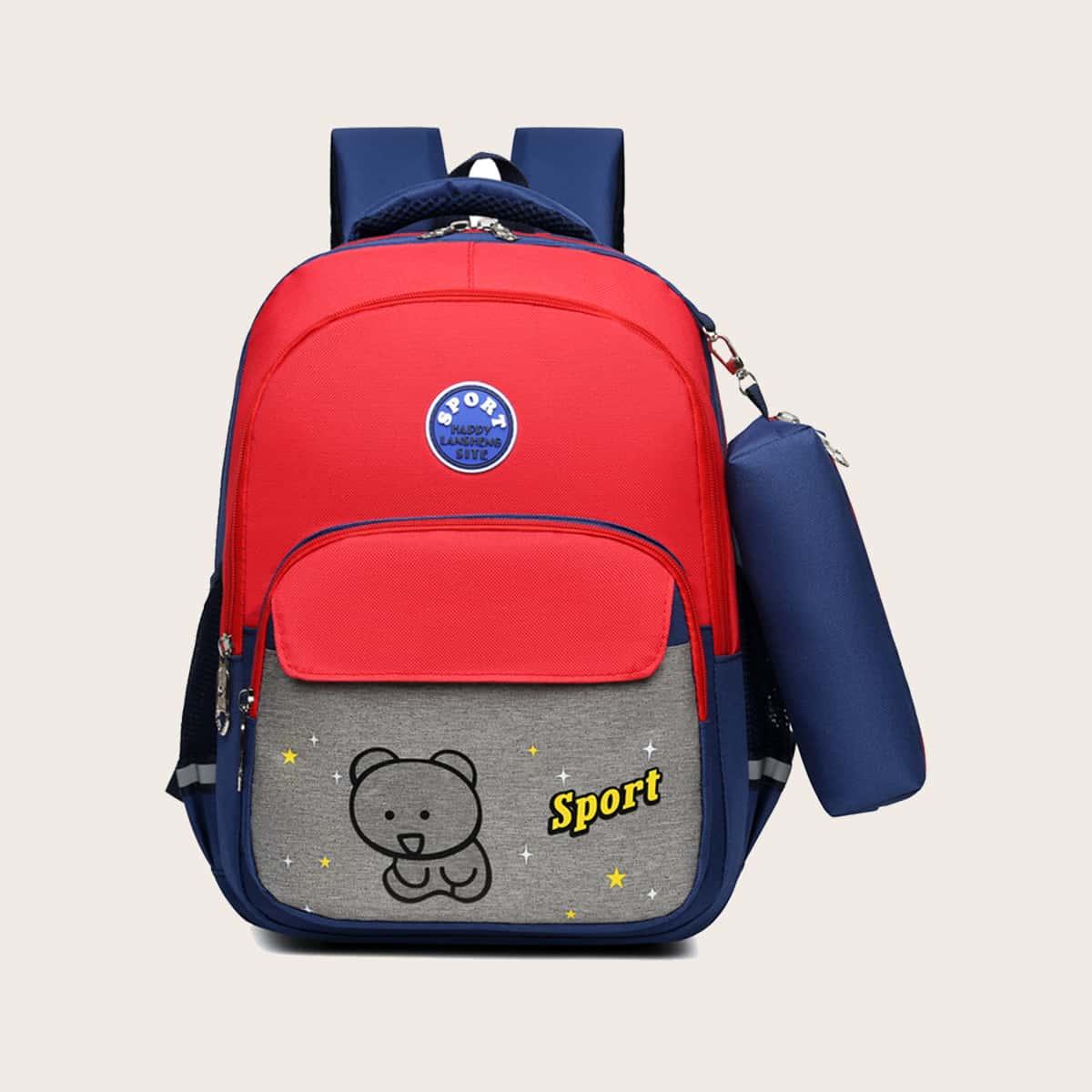 Рюкзак с мультипликационным узором для мальчиков