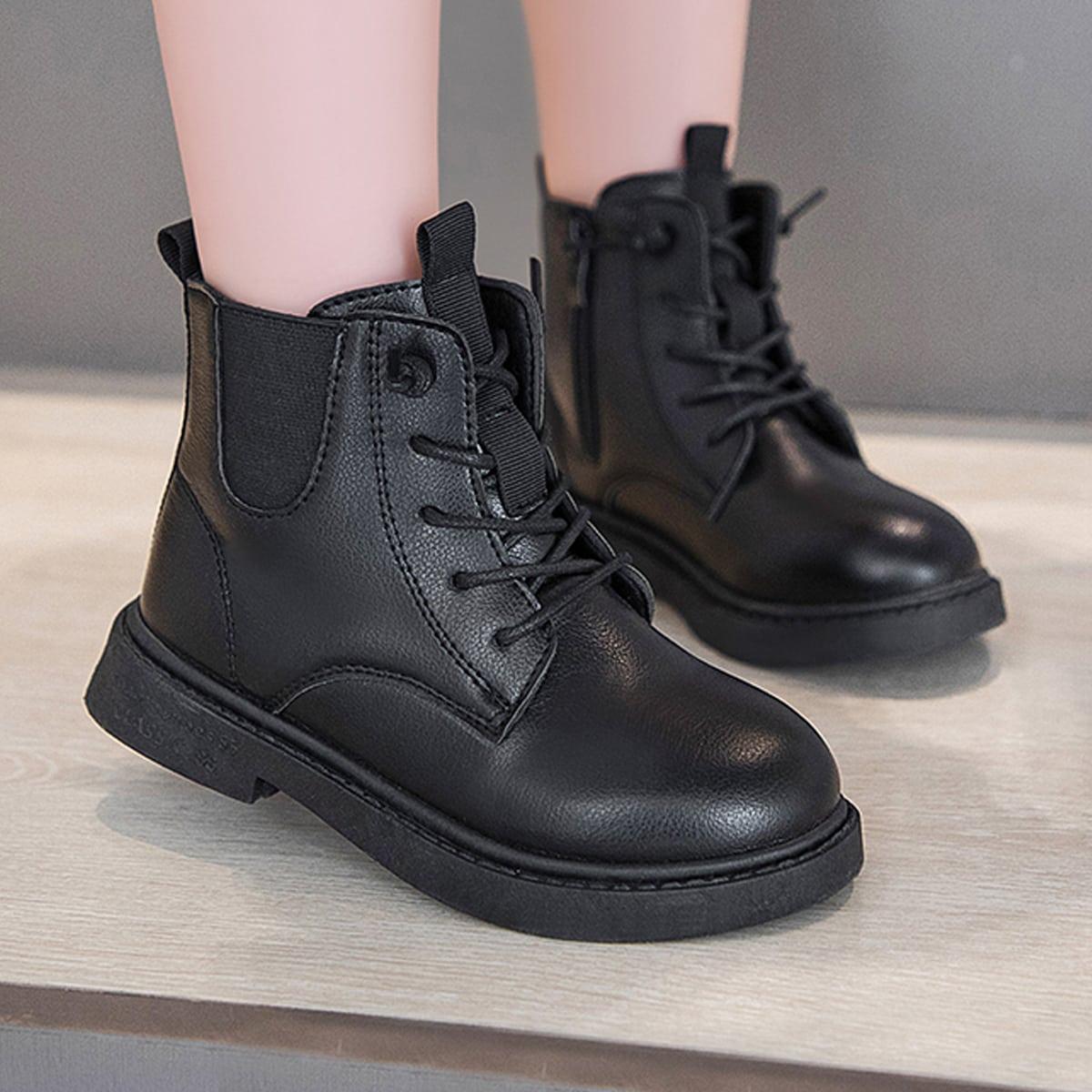 Минималистичные ботинки на шнурке SheIn sk2108039313751066