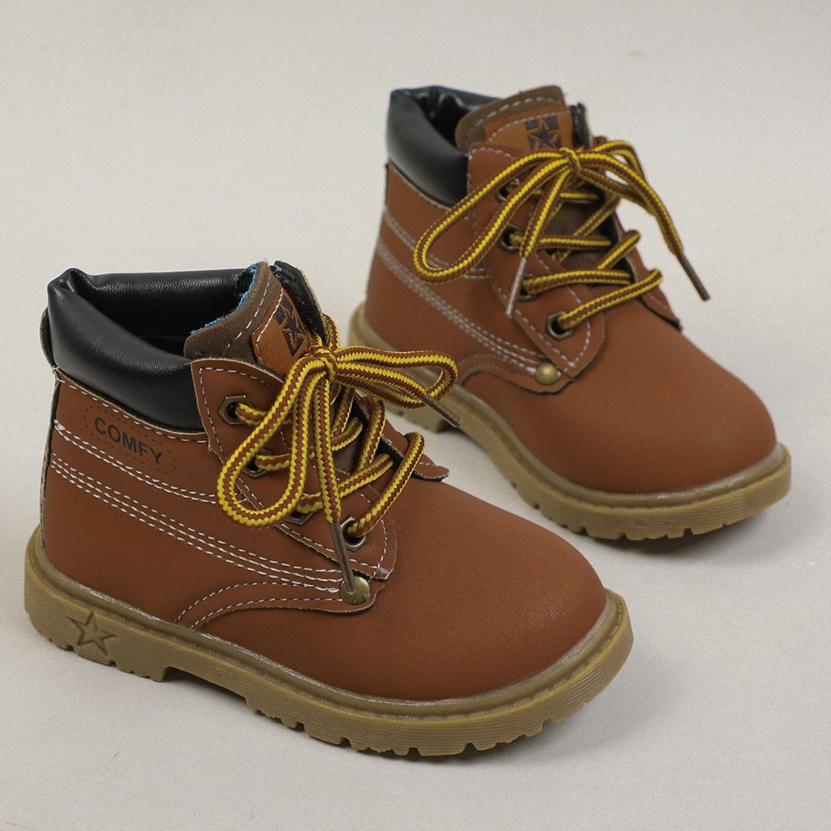 Ботинки на шнурке для мальчиков SheIn sk2108055866591527