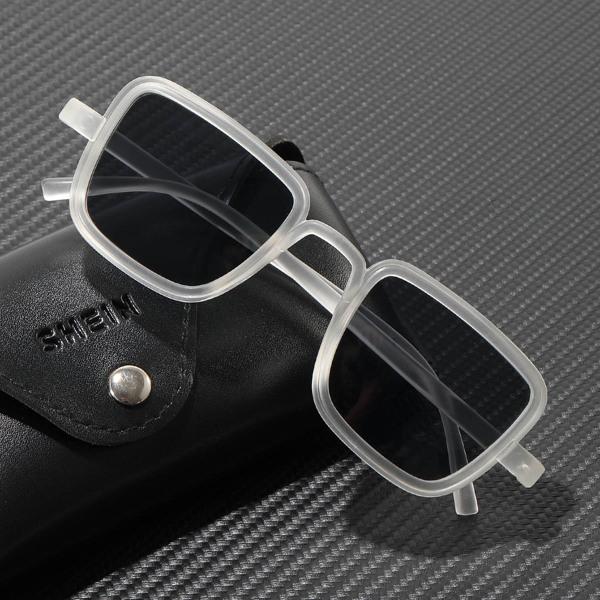 Men Square Frame Sunglasses, Black