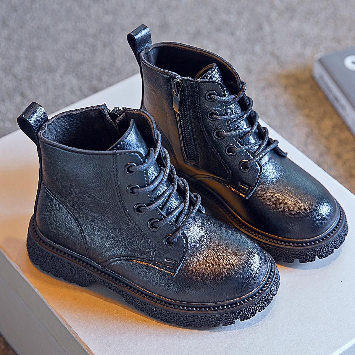 Ботинки комбат с молнией для мальчиков SheIn sk2108079111020095