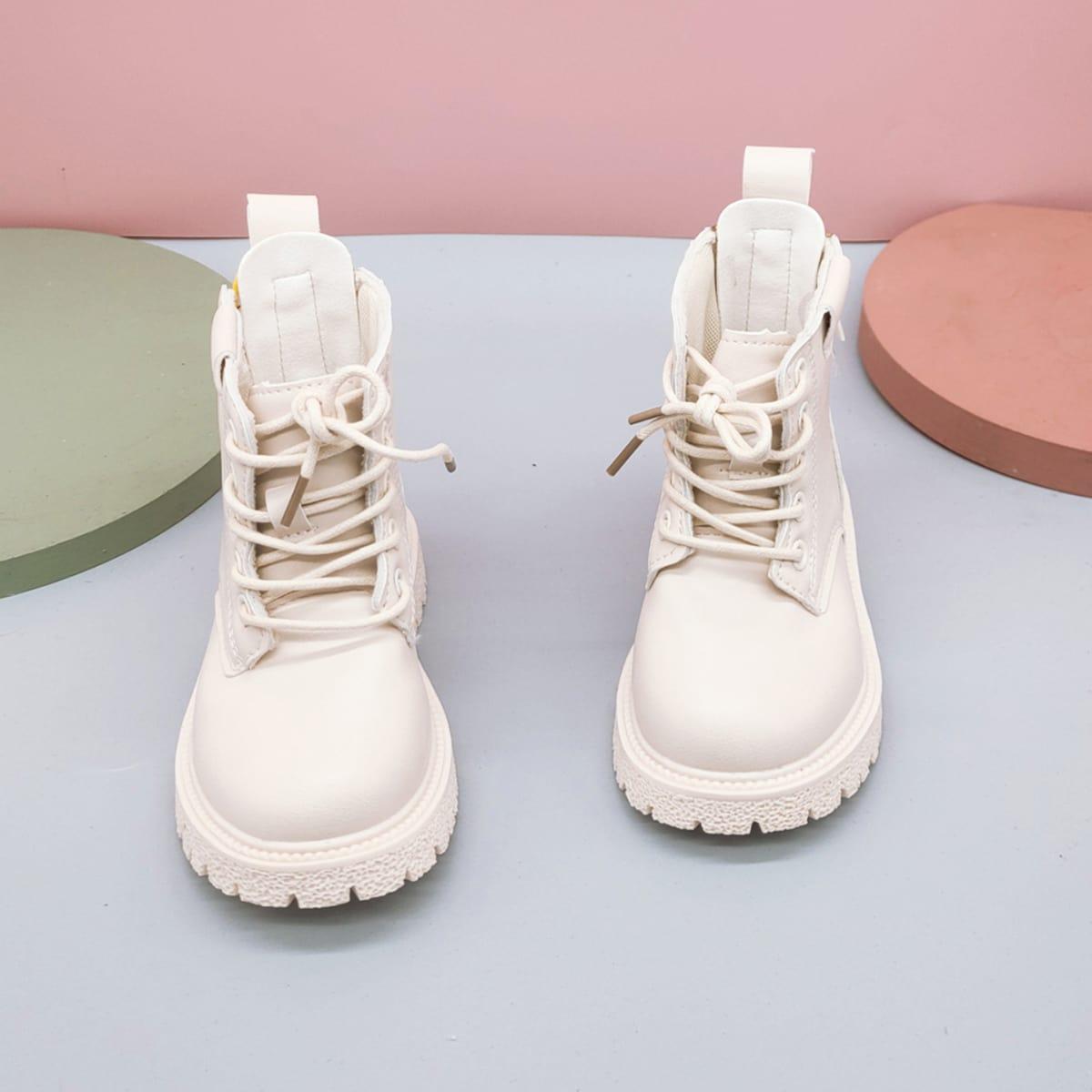 Ботинки комбат на шнурках для мальчиков SheIn sk2108080734140912