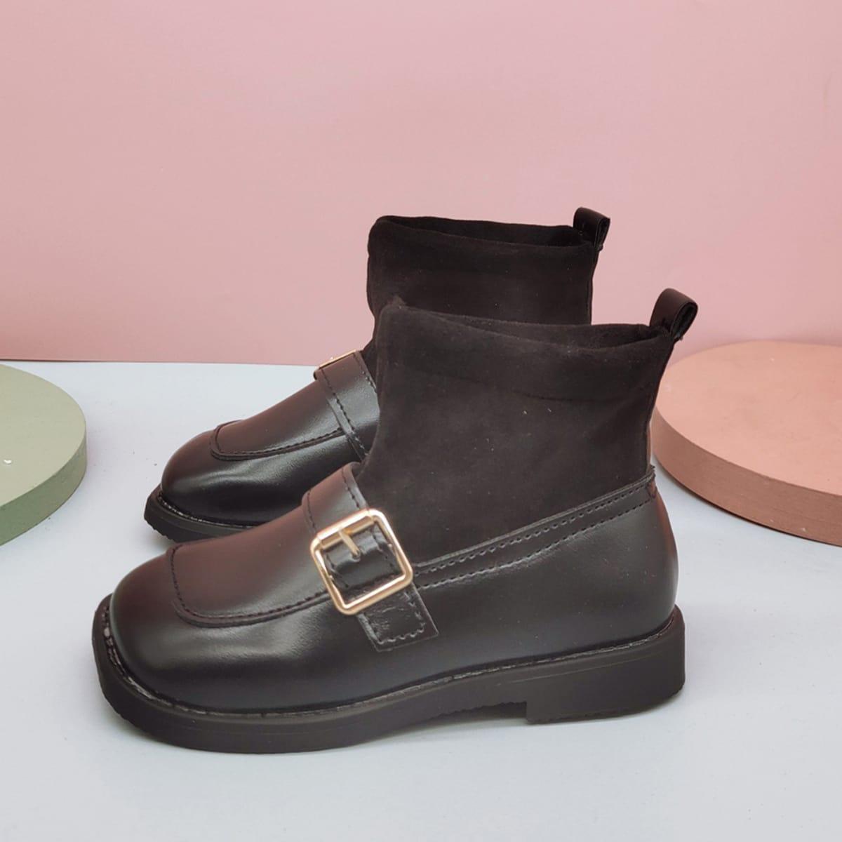 Ботинки с пряжкой для девочек SheIn sk2108088948439808