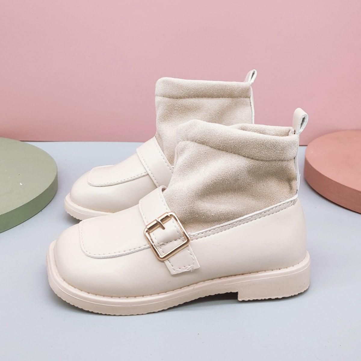 Ботинки с пряжкой для девочек SheIn sk2108084809293799