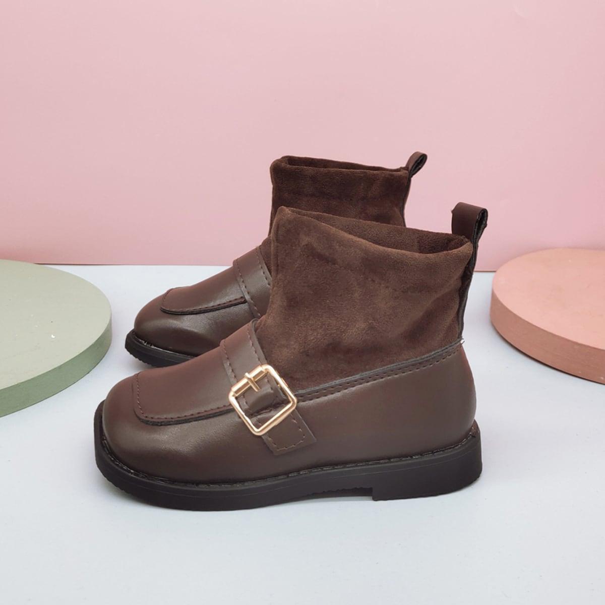 Ботинки с пряжкой для девочек SheIn sk2108088707353401