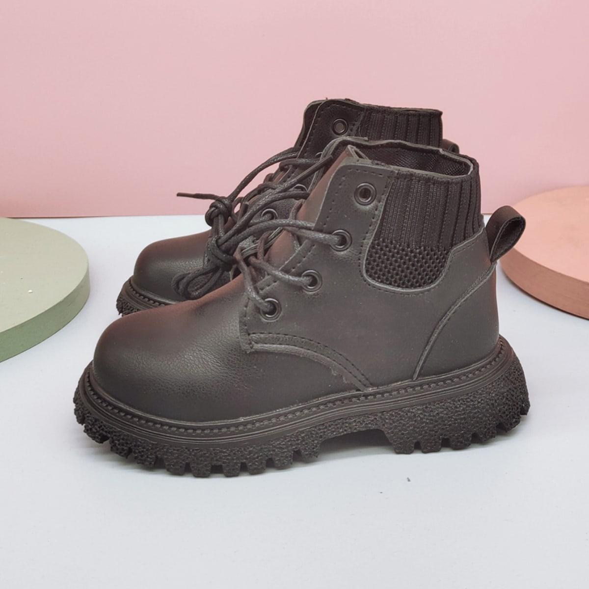 Ботинки на шнурках для мальчиков SheIn sk2108081722411193