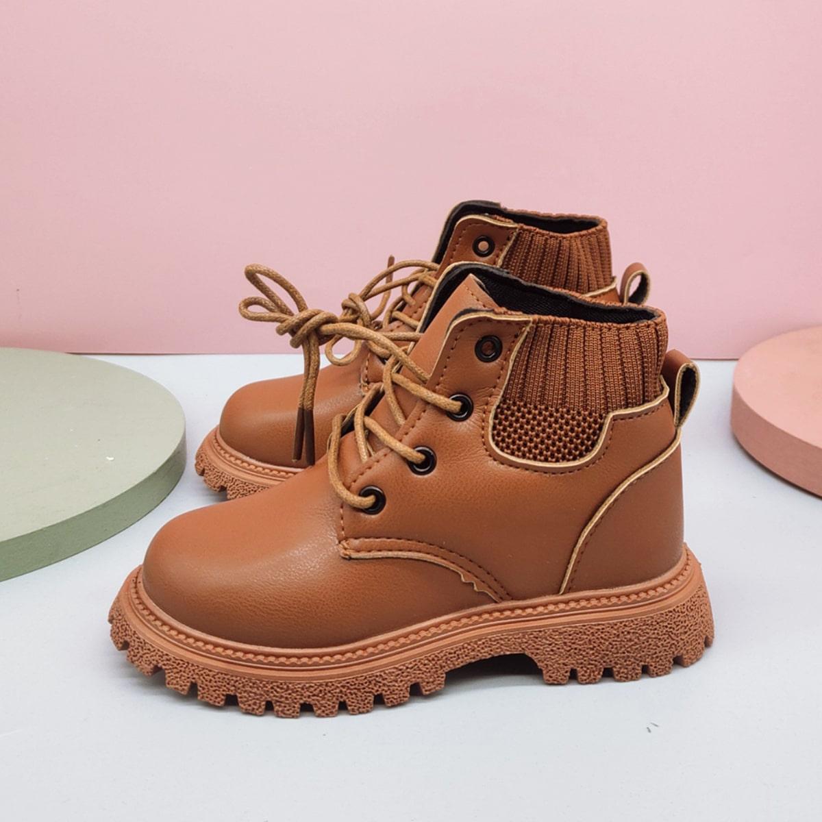 Ботинки на шнурках для мальчиков SheIn sk2108088696071071