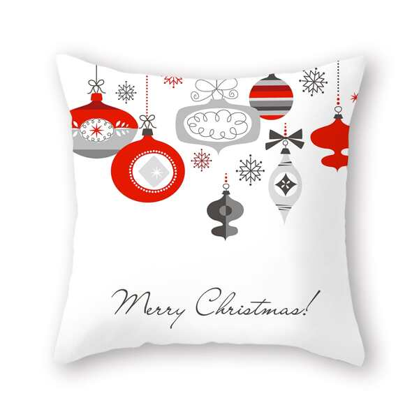Christmas Pattern Cushion Cover Without Filler, Multicolor