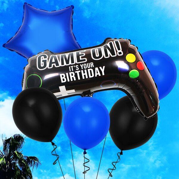 6pcs Letter Graphic Decoration Balloon, Multicolor
